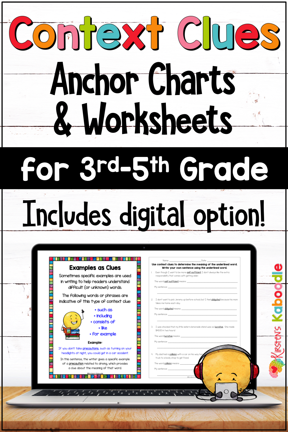 Context Clues Activities Worksheets and Anchor Charts for 3rd [ 1500 x 1000 Pixel ]