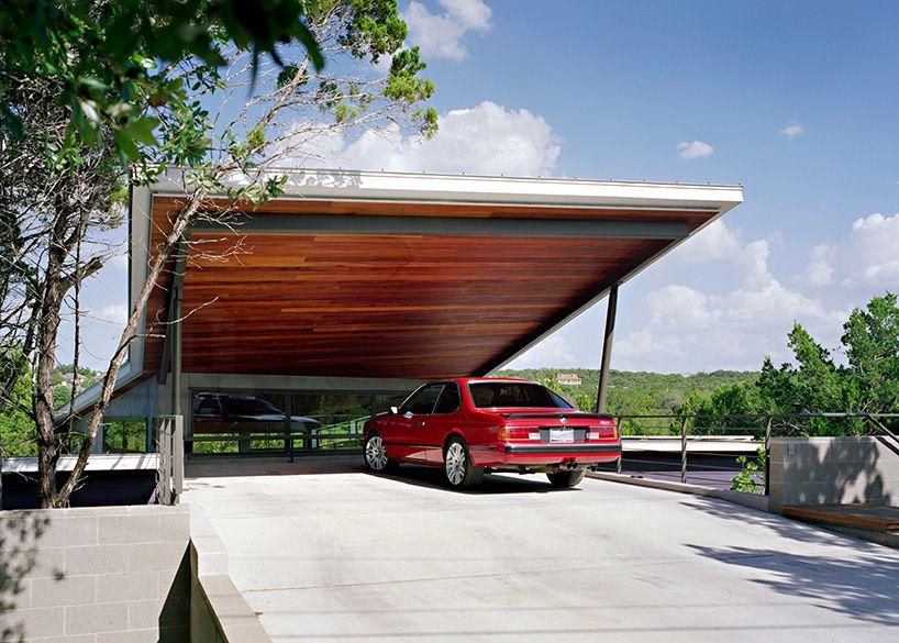 Canyon Edge House By Tom Hurt Architects In Austin Tx Garage Design Carport Designs Modern Garage