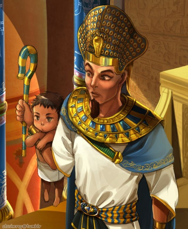 Hetalia - Countries and their ruler - Gupta with Ramesses II
