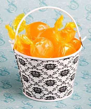 Cute metal damask design pails