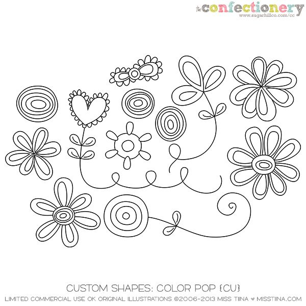 SHCO Confectionery - CU - Shapes/Templates - Shapes: Color Pop {CU ...