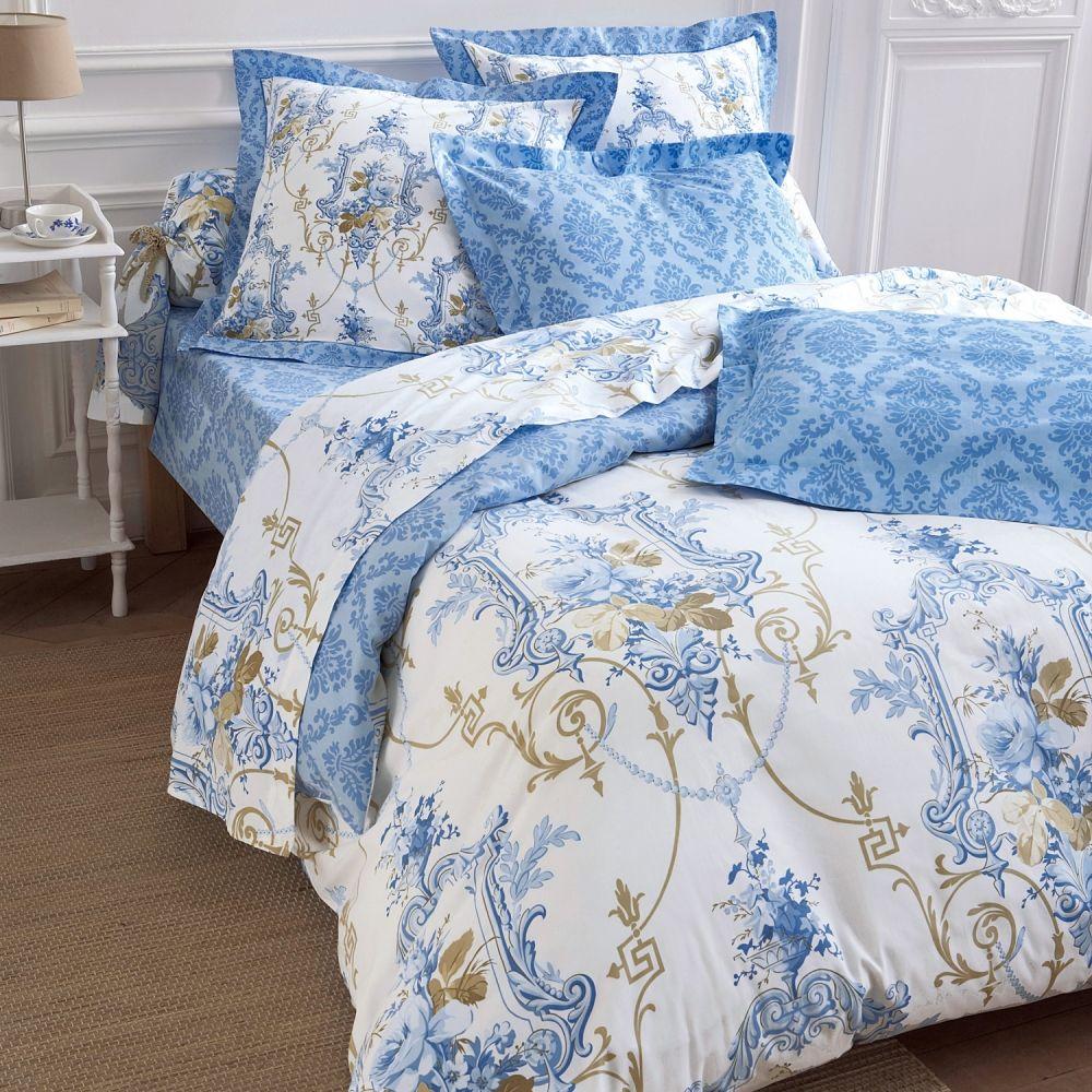 linge de lit marquise colombine with linge de lit toile de jouy. Black Bedroom Furniture Sets. Home Design Ideas