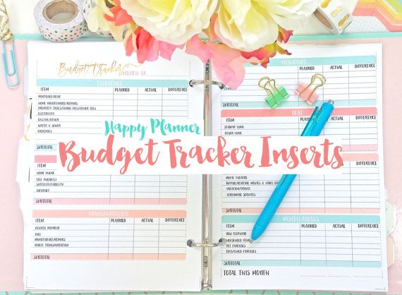 photo about Happy Planner Budget Printable referred to as Joyful Planner Spending budget Monitoring Printable Planner Inserts PDF