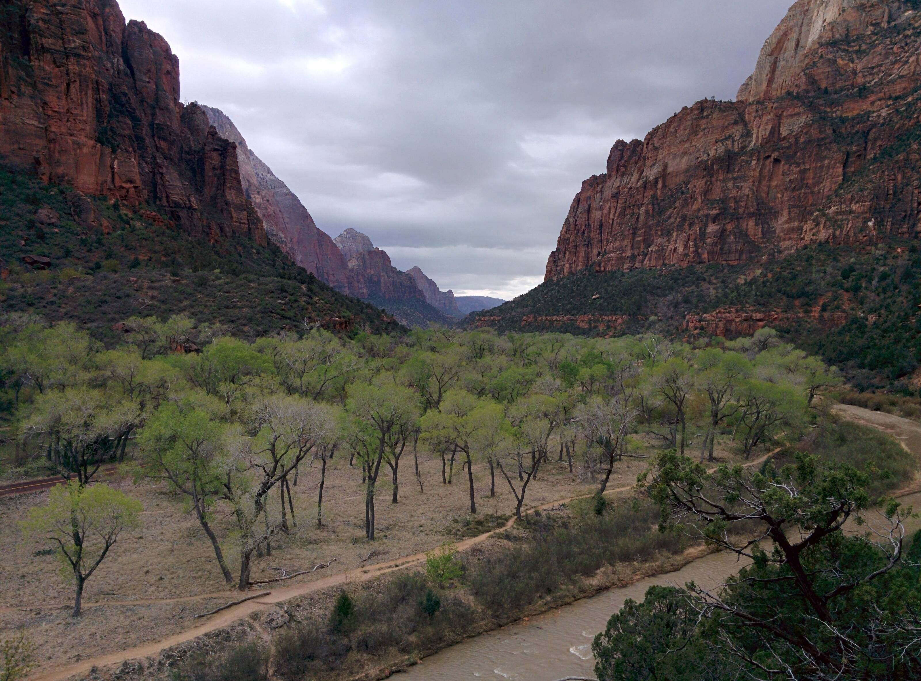 Cloudy Day At Zion Canyon Zion National Park Utah Oc 3200x2860