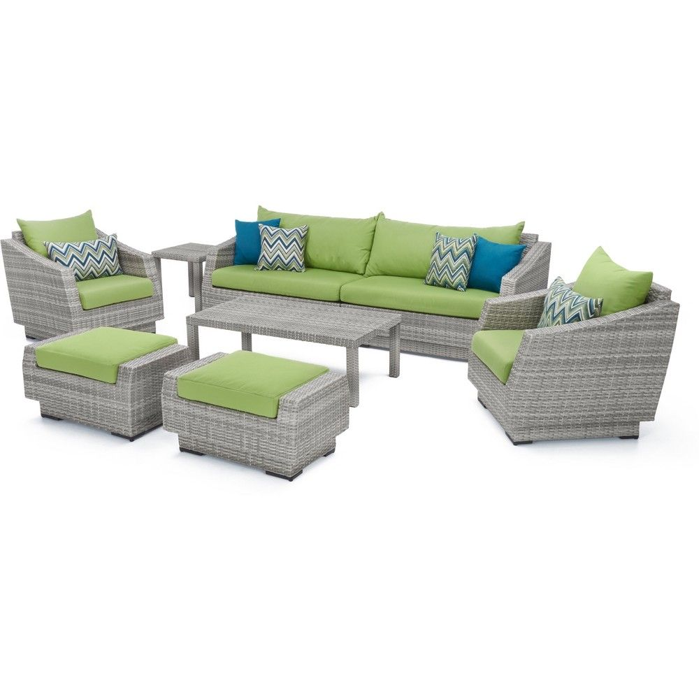 Perfect For Large Backyards Or Patios The Cannes 7pc Sofa And Club