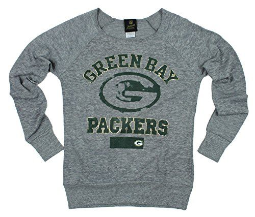 Green Bay Packers NFL Juniors Women's Flashdance Sweatshirt, Grey NFL