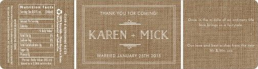 Vintage Museo labels in burlap basic. #evermine