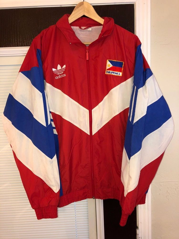 Adidas Philippines Flag Rare Red White Blue Track Jacket
