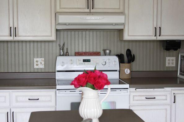 Beautiful Inexpensive Backsplash Option For Kitchen  Beadboard Wallpaper!