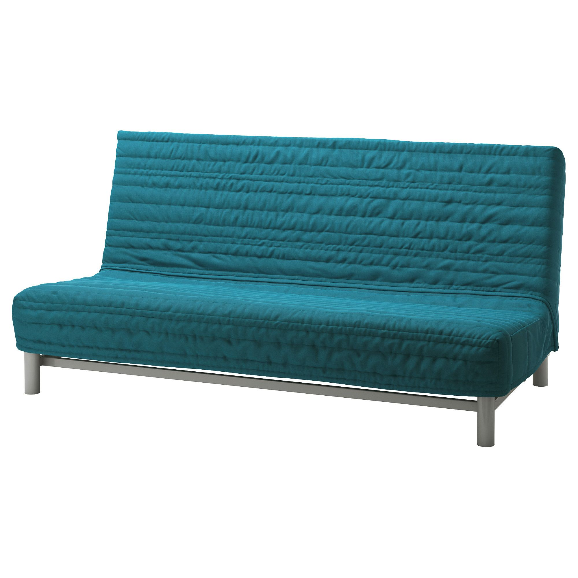 Ikea Beddinge Lovas Sofa Bed Knisa Turquoise Extra Covers