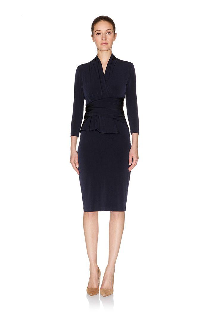 00f7be6b2bc Arlington Dress Navy Jersey | My Style Pinboard | Dresses, Dresses ...