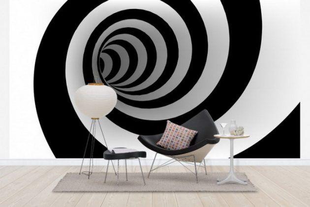 15 Outstanding Wall Art Ideas Inspired By Optical Illusions Desain Cat Dinding Dekor Desain Kamar