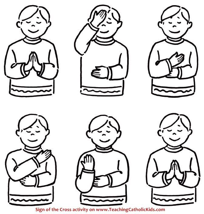 try this coloring page and activity to help young children learn the sign of the cross