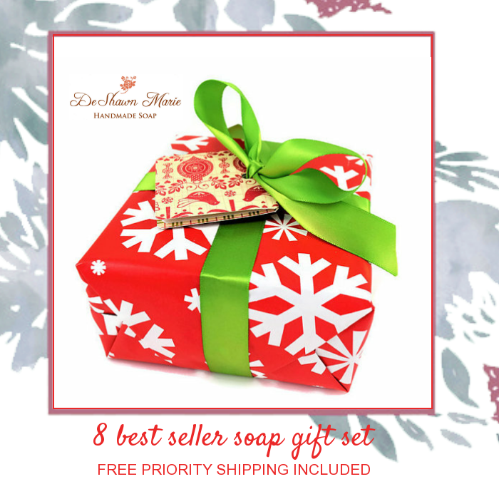 8 Best Seller #Christmas #Soap #Gift http://deshawnmarie.etsy.com  #freeshipping #freepriorityshipping #etsygifts #etsy #etsyshop #etsylove
