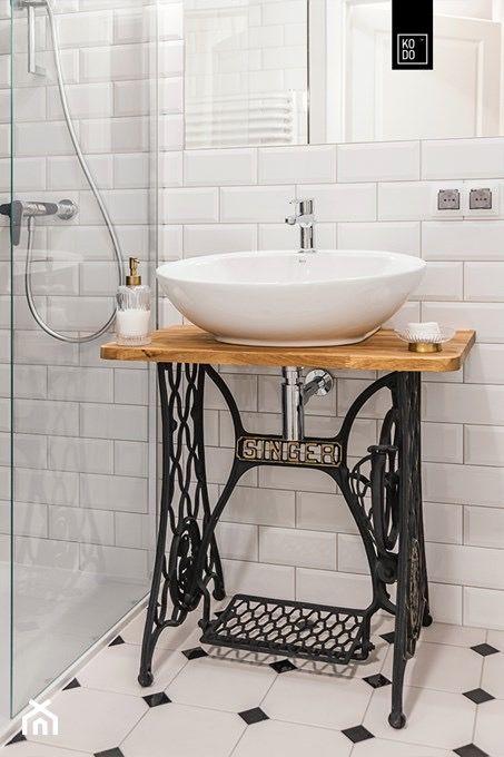 Photo of Łazienka z nutą retro – oryginalny pomysł na szafkę pod umywalką