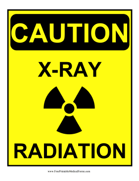 Decorated With A Radiation Symbol This Yellow Caution Sign Notifies Staff That The X Ray Lab Is In Use Free To Download And Print Radiation X Ray Signs