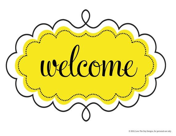 Superb image for welcome sign printable