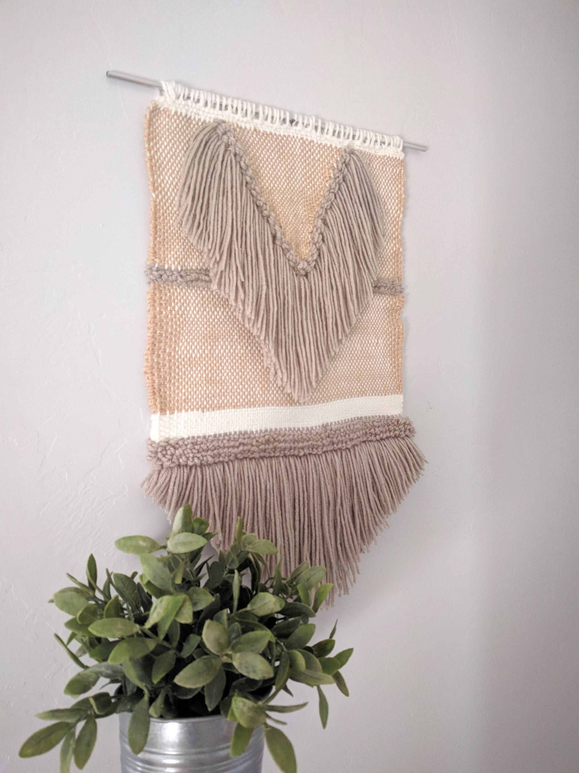 Medium Woven Wall Hanging,Wall Tapestry, Nursery Decor,Fiber Art, Scandinavian,