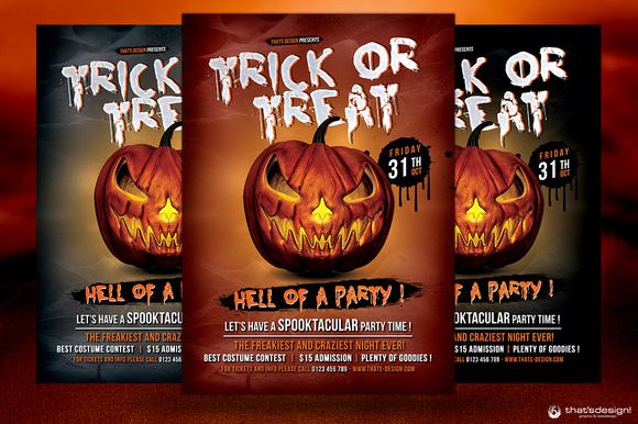 Check out Halloween Flyer Template V6 by ThatsDesign on Creative - halloween template