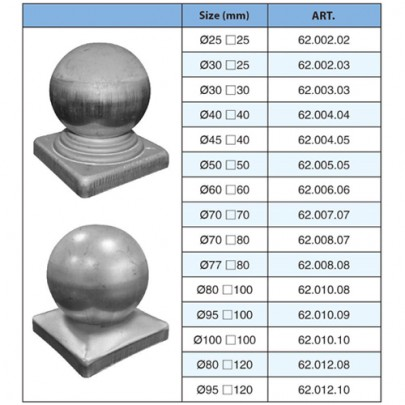 Simen Metal 62 002 02 62 012 10 High Quality Wrought Iron Post Caps Hollow Ball With Square Base Caps In 2020 Post Cap Wrought Iron Wrought