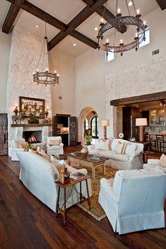 Santa Barbara Style In Austin Spanish Living Room