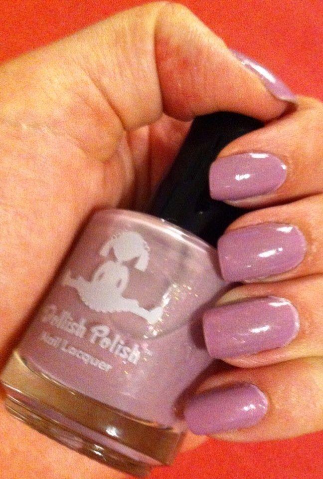 Dollish Polish Purple Haze over China Glaze Nail Lacquer Sweet Hook