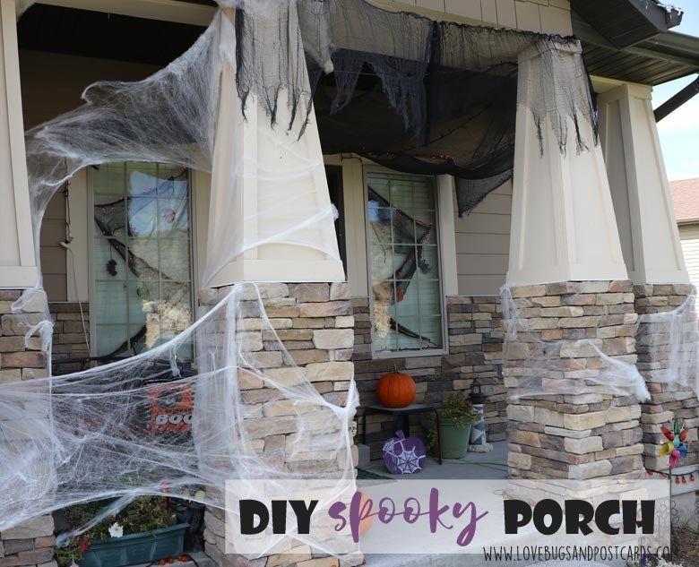 DIY Spooky Front Porch Halloween Decorations Front porches, Porch