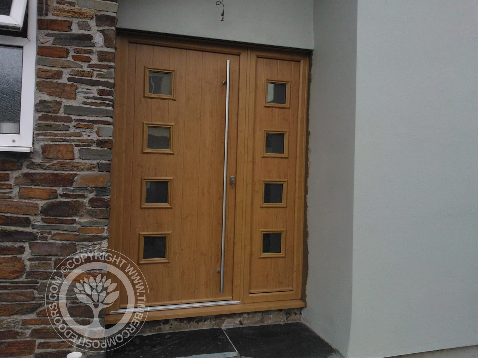 Light Oak Composite Front Door Part - 49: Solidor Milano Composite French Doors In Irish Oak Part Of Our Timber Core Composite  Door Range