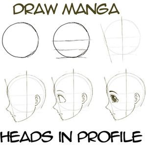 Terrific How To Draw Anime Manga Faces Heads In Profile Side View How Hairstyles For Men Maxibearus