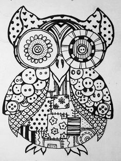 Owls Art Therapy Coloring Pages