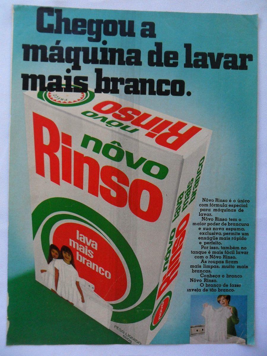 Propaganda Antiga E Rara Do Sabão Em Pó Novo Rinso Década 60 - R$ 16,00 no MercadoLivre