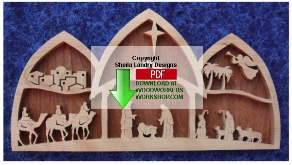 48 Sldk216 Arched Nativity Scene Downloadable Scrollsaw