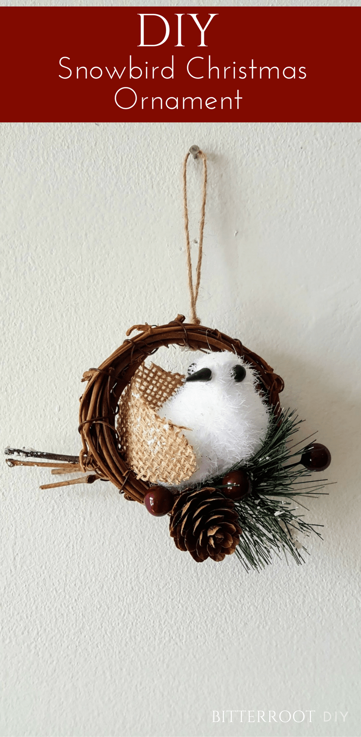 Diy snowbird christmas ornament christmas crafts u diy pinterest