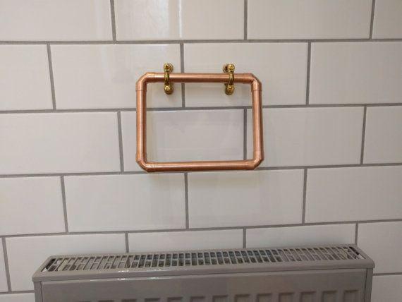 Copper Towel Rack Towel Rail Towel Ring Bathroom Decor Hand Fascinating Bathroom Towel Bar Design Ideas