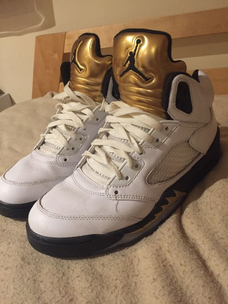 new style 01104 02e47 AIR JORDAN 5 RETRO OLYMPIC GOLD MEDAL SIZE 9 MENS RARE  fashion  clothing   shoes  accessories  mensshoes  athleticshoes (ebay link)