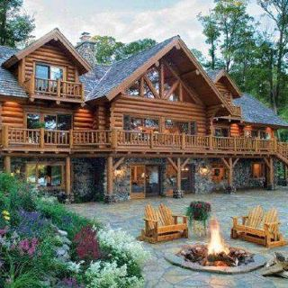 The Dream Cabin I Would Build In The Mountains Of Nc If Only I Were Rich Log Cabin Homes My Dream Home Log Homes