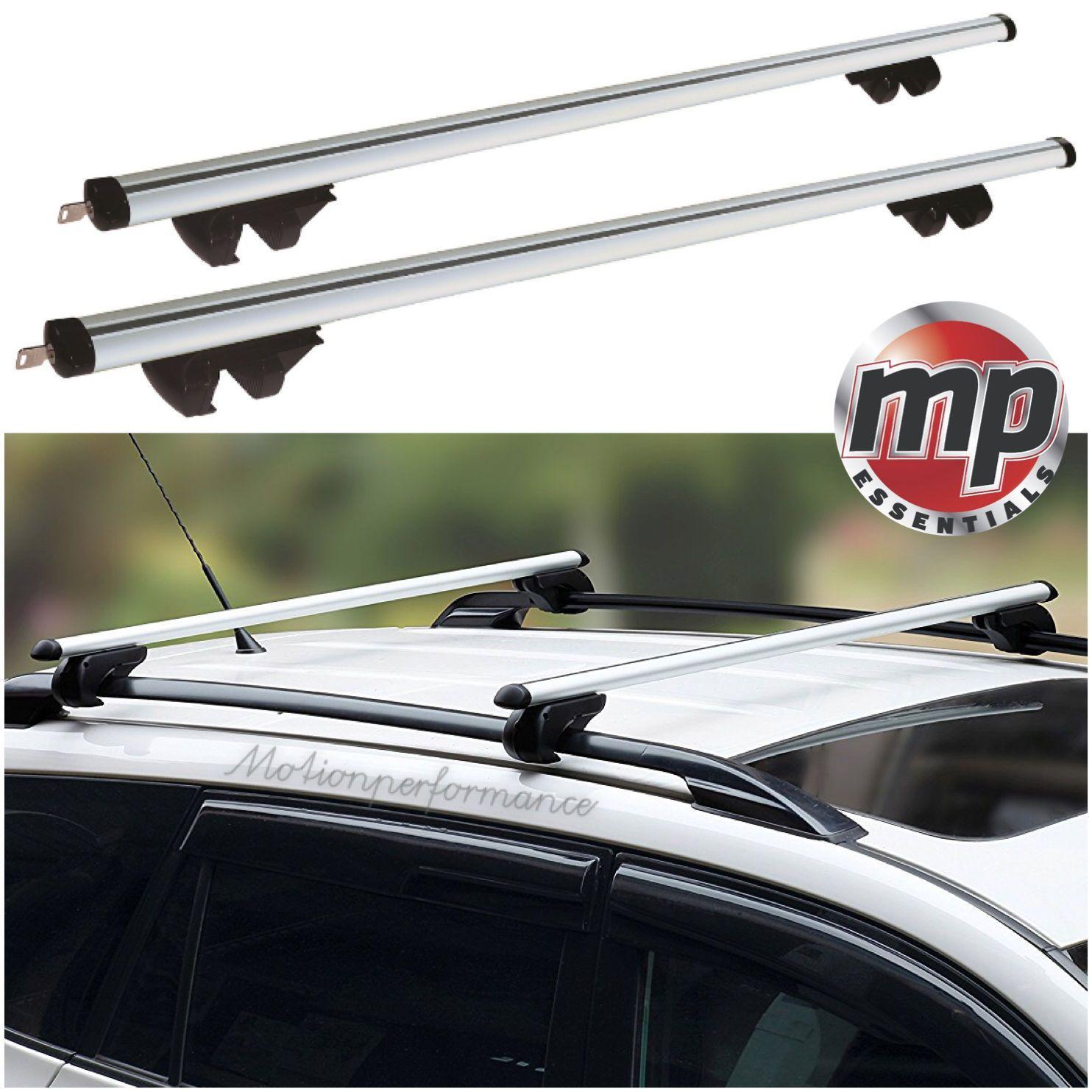 Streetwize Universal 135cm Lockable Aluminium Roof Rack Bars For Cars With Rails Car Roof Racks Roof Rack Aluminum Roof