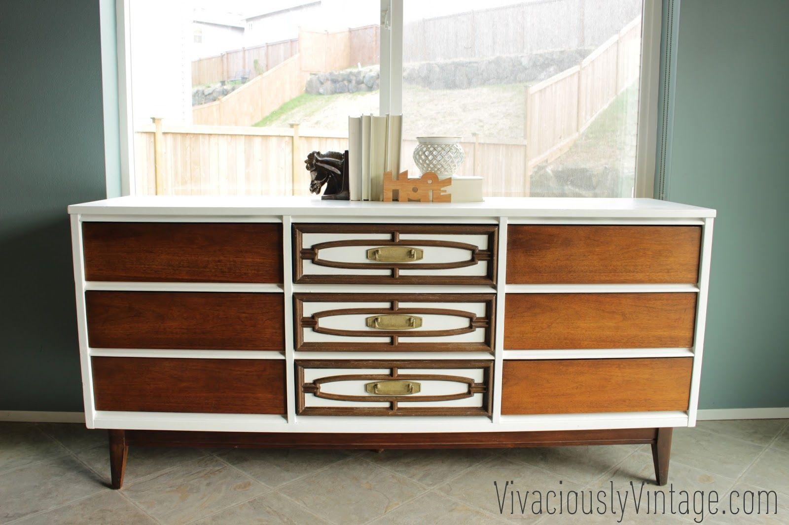 Best 2 Tone Mid Century Modern Avante Bassett Dresser Mid 400 x 300