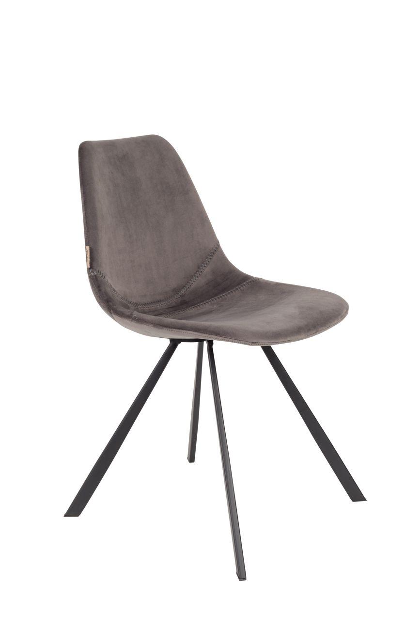 Eetkamerstoel Sem Grijs.Franky Velvet Chair Chairs Chair Grey Chair En Dining Chairs