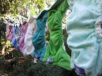 Day 30: Wash. Nothing nicer than a line of freshly washed nappies hanging out on a sunny day #totsbots #picaday