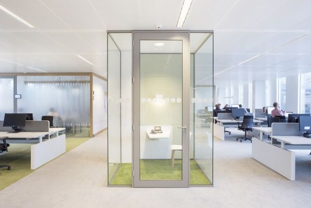 les superbes bureaux de nuon amsterdam bureaux architecture office open space. Black Bedroom Furniture Sets. Home Design Ideas