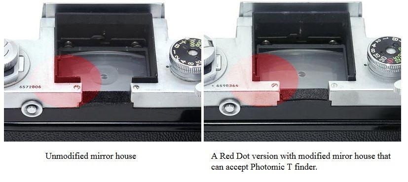 """Qu'est ce qu'un Nikon F """"Red Dot"""" C'est un Nikon F, modifié par Nikon pour accepter les viseurs Photomic T"""