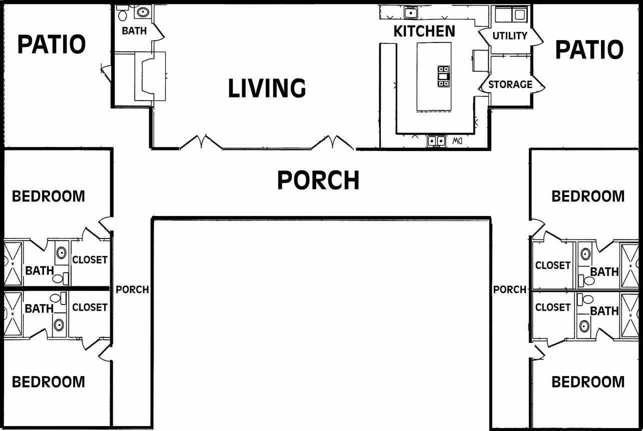 u shaped floor plans optional fireplace the u shaped