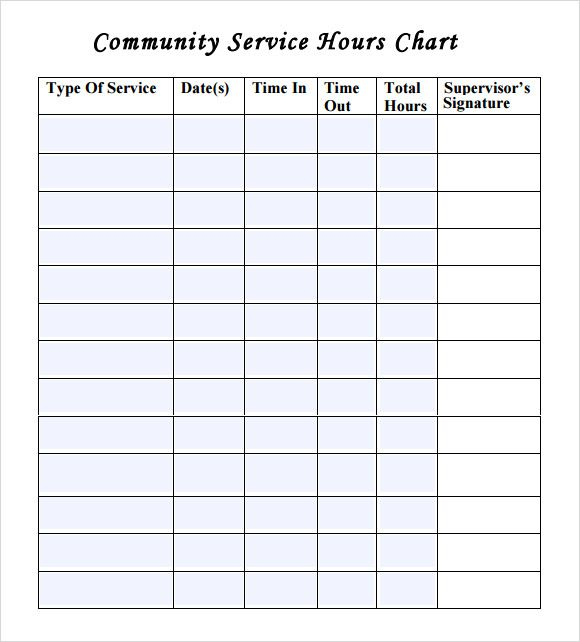 Community Service Time Sheet Template Black Vanity LLC Pinterest