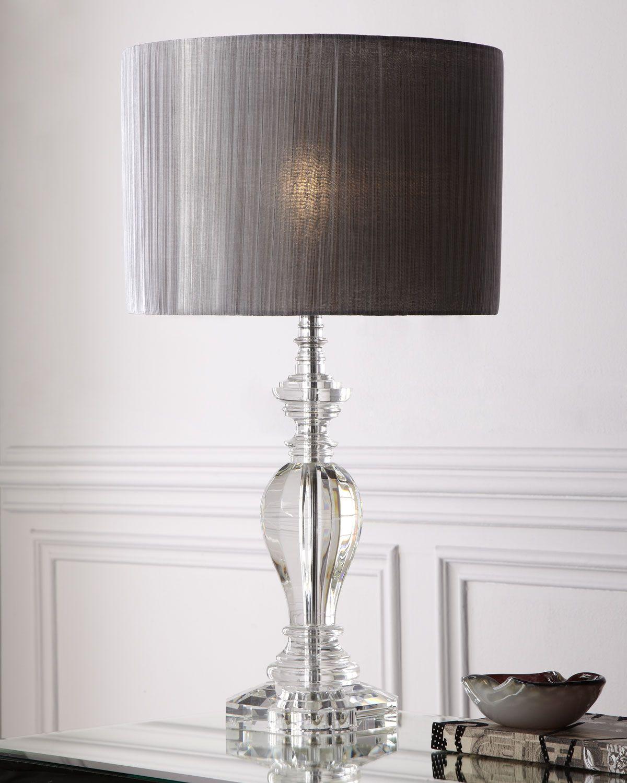 Pleated Shade Crystal Lamp Neiman Marcus