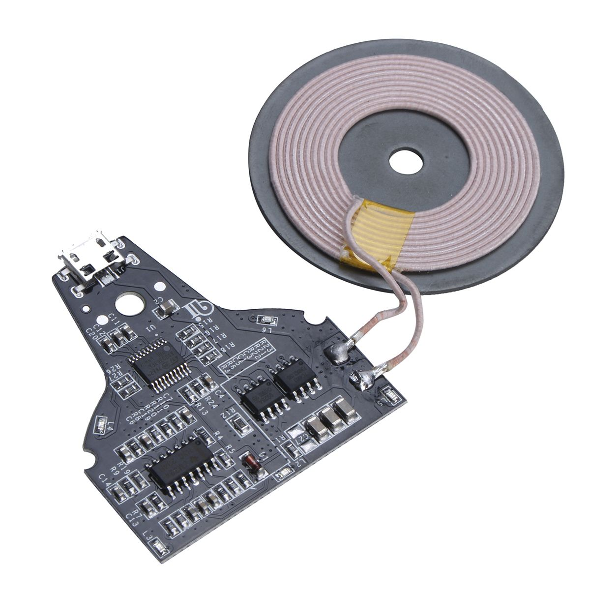 5V 2A Micro USB Qi Standard Wireless Phone Charger PCB Circuit Board ...