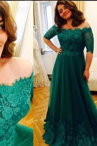 Princess Green Lace Short Sleeve A Line Tulle Vintage Plus Size