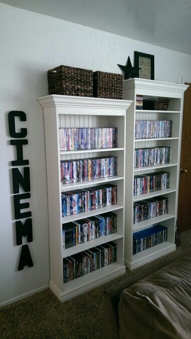 Media Storage Dvd Storage Diy Storage Cabinets Home Theater Rooms