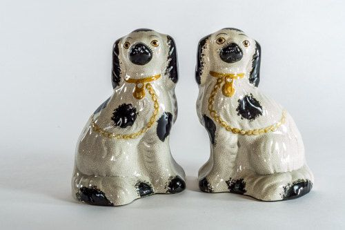 1970 c Pair of Small Staffordshire Dogs