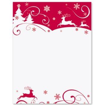 Reindeer Swirl Letter Paper  Idea Art  Craft    Note